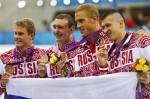 Сборная России - бронзовый призёр в мужской эстафете 4Х100 м вольным стилем