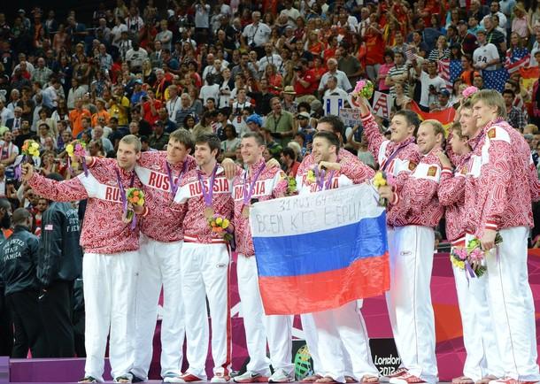 Мужская сборная России по баскетболу бронзовый призер Лондона-2012