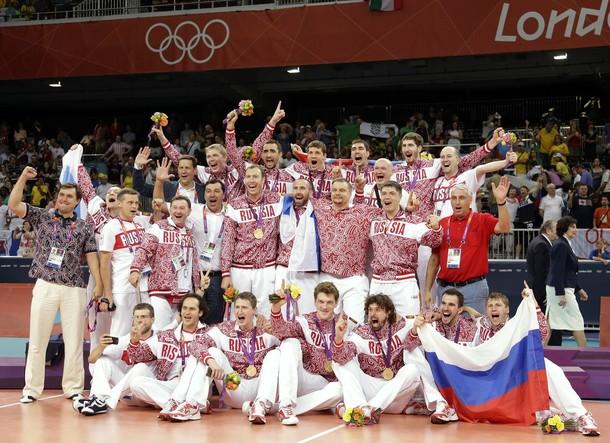 Мужская сборная России по волейболу - Олимпийские чемпионы Лондона-201