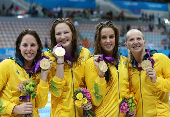 Австралия (слева-направо: Коуттс Алисия, Шлэнгер Мелани, Элмсли Бриттани, Кэмпбелл Кейт)