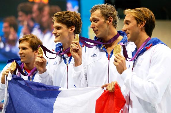 Франция (слева-направо: Лефер Клемен, Аньель Янник, Лево Амори, Жило Фабьен)