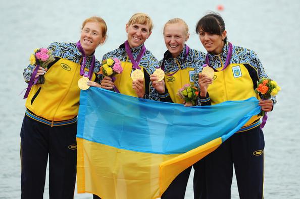 1. Украина (слева-направо: Тарасенко Екатерина, Довгодко Наталия, Коженкова Анастасия, Дементьева Яна)