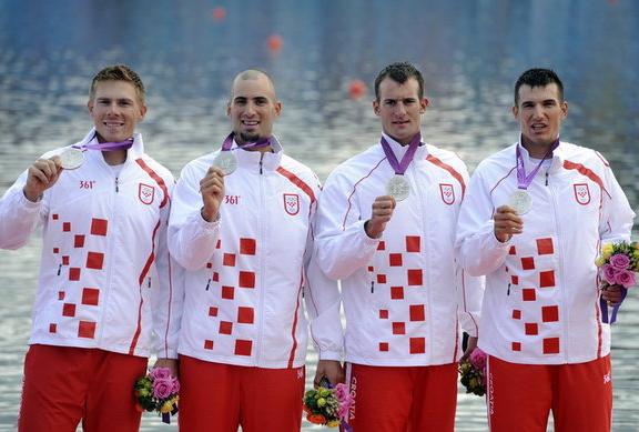 2. Хорватия (слева-направо: Шайн Давид, Шинкович Мартин, Мартин Дамир, Шинкович Валент)