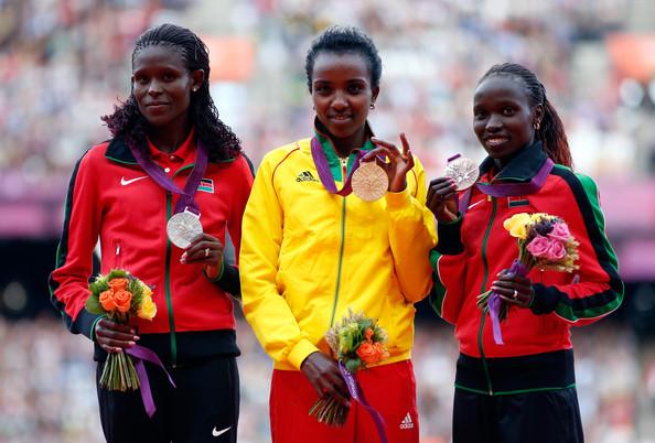 1. Дибаба Тирунеш (Эфиопия)  2. Кипьего Салли (Кения)  3. Черуйот Вивиан (Кения)