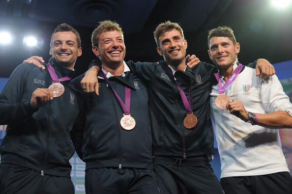 3. Италия (слева-направо: Оккьюцци Диего, Тарантино Луиджи, Самеле Луиджи, Монтано Альдо)
