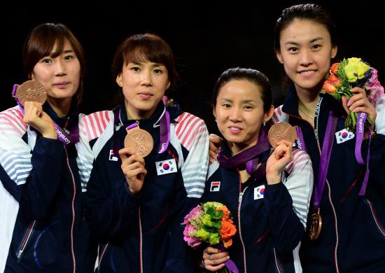 3. Корея (слева-направо: Чон Хи Сук, Чжон Гиль Ок, Нам Хён Хи, Ох Ха На)