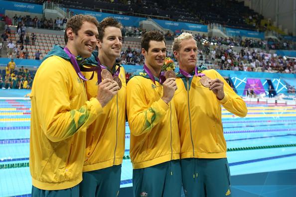 3. Австралия (слева-направо: Таргетт Мэтт, Магнуссен Джеймс, Спренгер Кристиан, Стокел Хэйден)