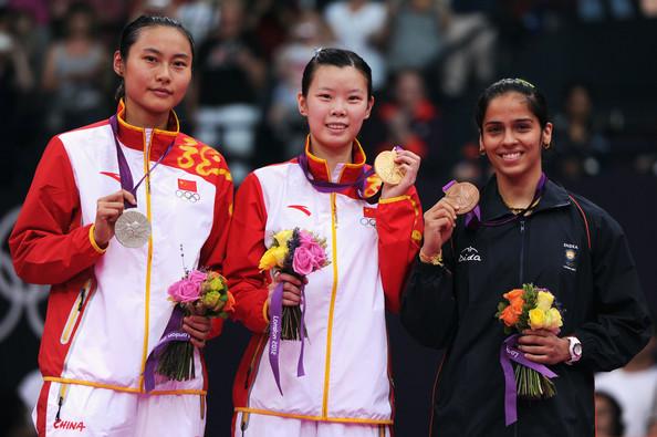 1. Ли Сюэжуй (Китай)  2. Ван Ихань (Китай)  3. Нехвал Саина (Индия)