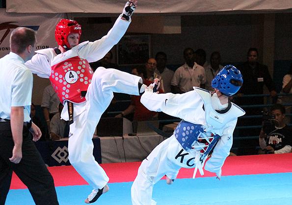 Командный Кубок мира по тхэквондо 2012, Санта-Крус, Аруба. Россия - Южная Корея, групповой этап